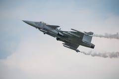 绅宝JAS 39 Gripen航空器 库存图片