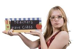 实习教师 库存照片