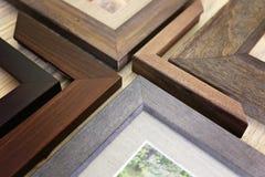 实体木材画框样品的汇集 库存照片