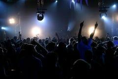 实况音乐和人们 免版税库存照片