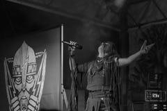 实况Arkona专辑第15个周年展示在Insubria节日 免版税图库摄影
