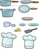实施厨房集 免版税图库摄影