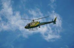 实施直升机法律 免版税图库摄影