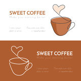 实线热巧克力杯子与蒸汽的 库存图片