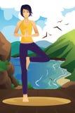 实践的女子瑜伽 库存照片