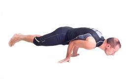 实践的瑜伽锻炼:挑战姿势- Koundiyanasana 免版税图库摄影