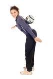 实践足球妇女 免版税图库摄影
