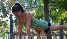 实践acro瑜伽 免版税图库摄影