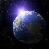 实际地球的行星 库存照片