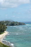 实际海滩前的庄园 免版税库存照片