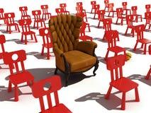 实际的扶手椅子 免版税库存照片