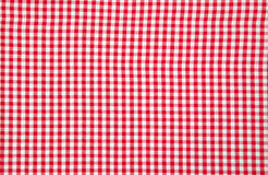 实际红色桌布白色 库存图片