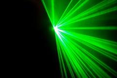 实际绿色激光 免版税库存图片