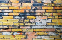 实际老brickwall 免版税库存照片