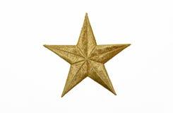 实际金子黄色星形 免版税库存图片