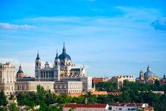实际马德里的宫殿 库存图片