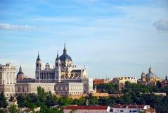 实际马德里的宫殿 图库摄影