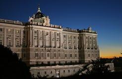 实际马德里的palacio 免版税库存照片