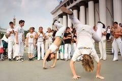 实际capoeira的性能 免版税库存照片
