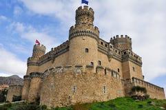 实际Manzanares el的城堡,马德里,西班牙 免版税库存图片
