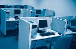 实验室个人计算机 库存照片