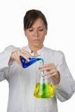 实验室妇女 免版税库存图片