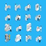 实验室工作象集合 免版税库存图片