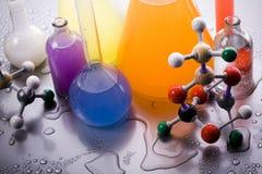 实验室模型分子 免版税库存照片