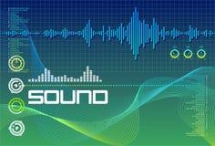 实验室海洋绿的声音 库存照片