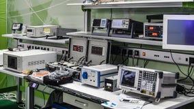实验室电子设备设备仪器 免版税库存照片