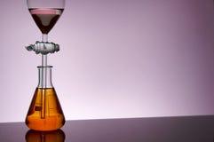 实验室粉红色 免版税库存照片