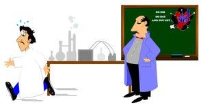 实验室老师和学生 免版税库存照片
