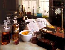 实验室葡萄酒 免版税库存图片