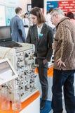 实验室设备和化学制品R的国际陈列 免版税图库摄影