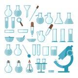 实验室设备集合 免版税库存照片