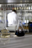 实验室试验酒 免版税库存照片