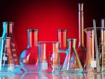 实验室玻璃器皿 库存图片