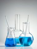 实验室玻璃器皿 免版税库存图片