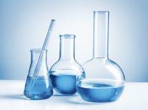 实验室玻璃器皿 库存照片