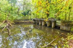 实验水力设施和流动模型遗骸  免版税图库摄影