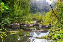 实验水力设施和流动模型遗骸  免版税库存照片