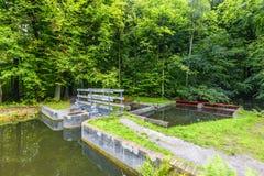 实验水力设施和流动模型遗骸  免版税库存图片