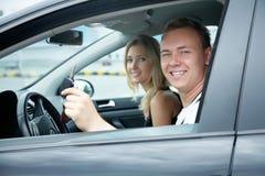 实验驾驶 免版税库存图片