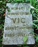 宠爱` s公墓,特伦,南艾尔郡 图库摄影