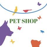 宠物传染媒介商标模板 库存图片