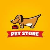 宠物商店滑稽的狗标志 库存图片