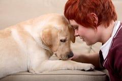 宠物妇女 免版税库存照片