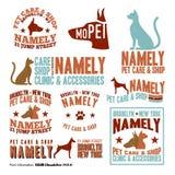 宠物照管邮票 免版税图库摄影