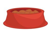 宠物的健康膳食快餐 皇族释放例证