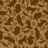 宠物的无缝的样式 纺织品的设计,纸,动物的食物 库存例证